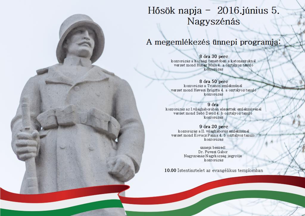 Hősök napja – 2016.