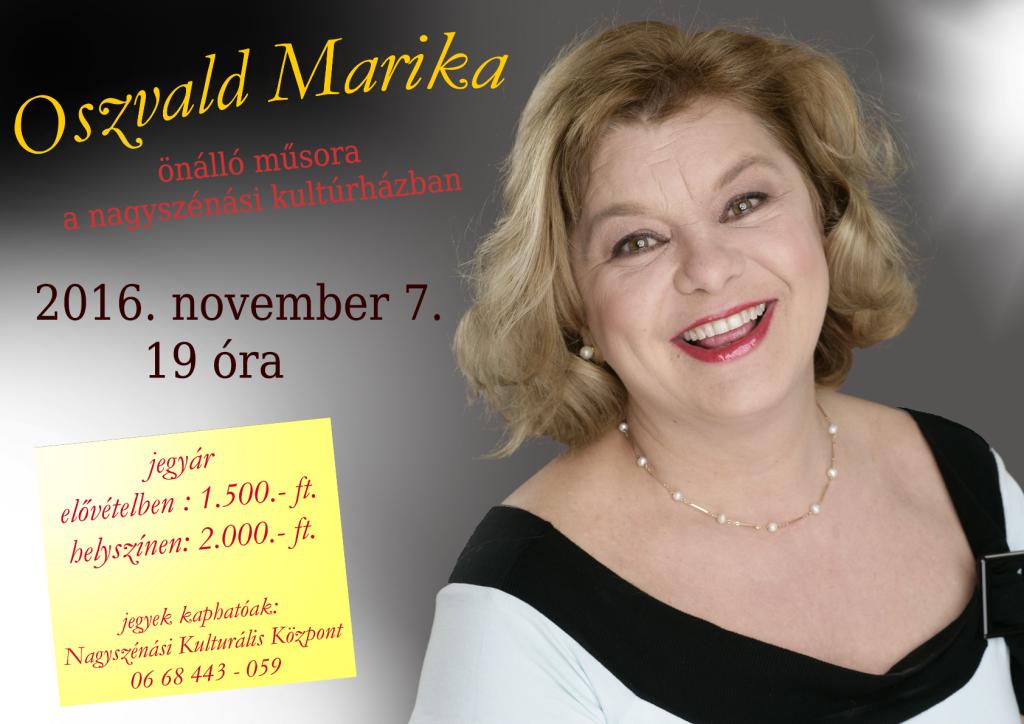 Oszvald Marika előadása a Kulturális Központban