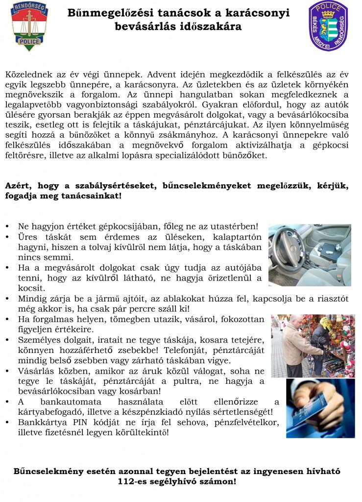 Microsoft Word - Bűnmegelőzési tanácsok karácsonyra.doc
