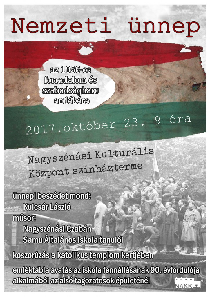 Megemlékezés az 1956-os forradalom és szabadságharcról