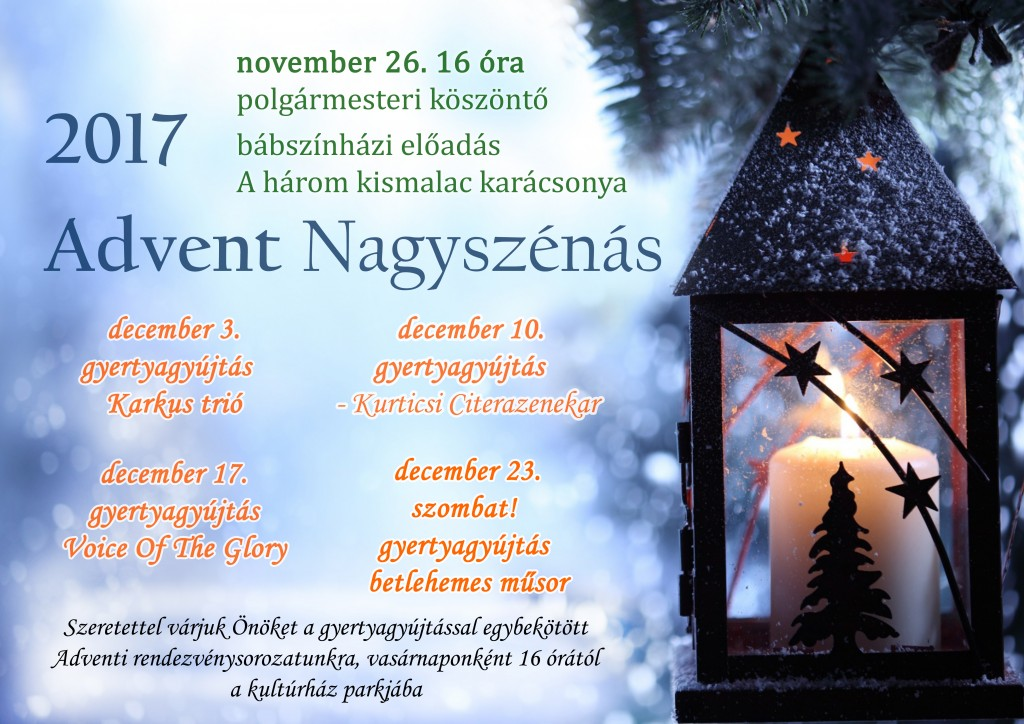 advent plakát 2017