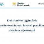 Elektronikus ügyintézés – tájékoztató