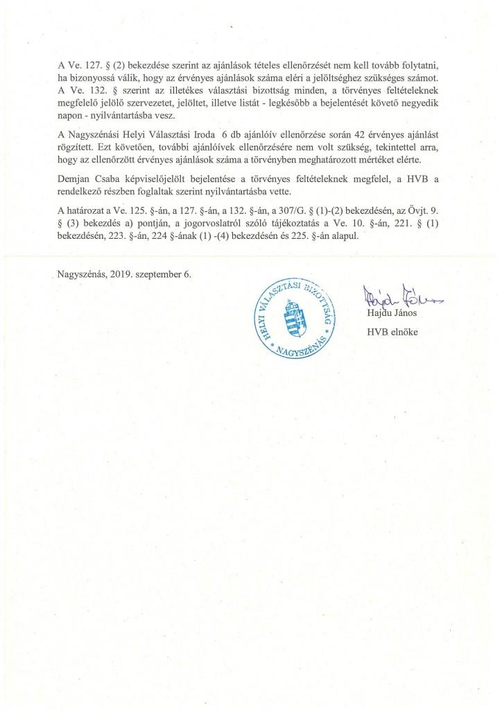 HVB határozatok 09.06.-10