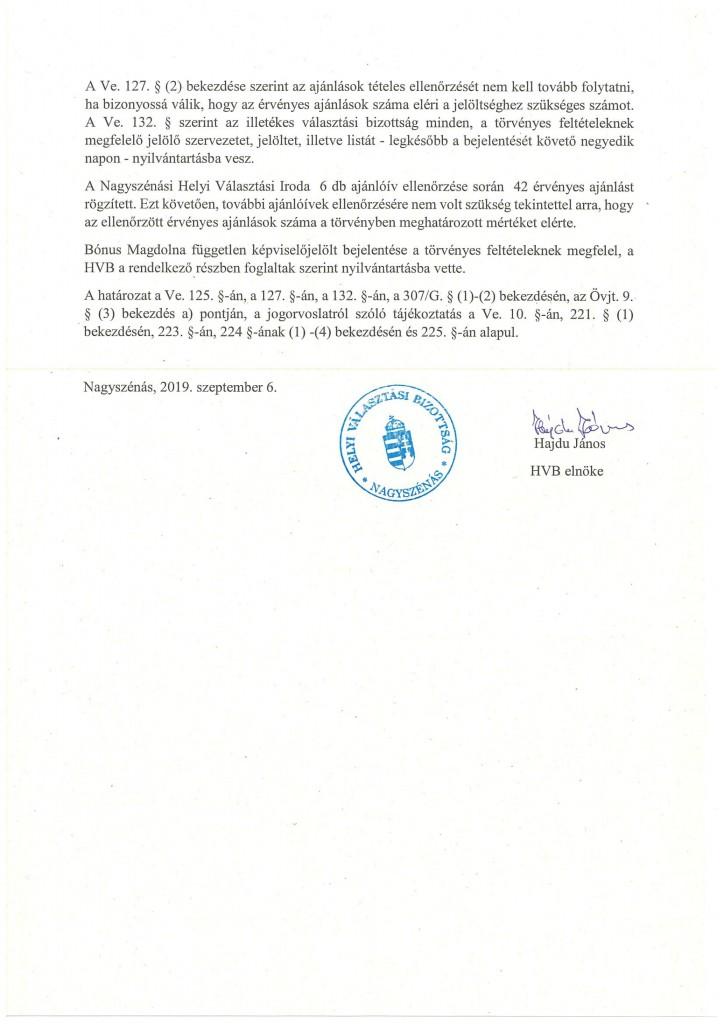 HVB határozatok 09.06.-12