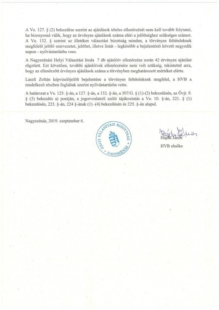 HVB határozatok 09.06.-2