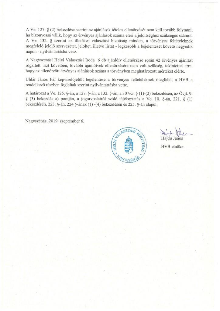 HVB határozatok 09.06.-4