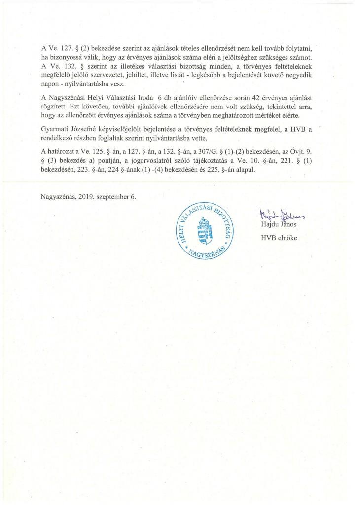 HVB határozatok 09.06.-6