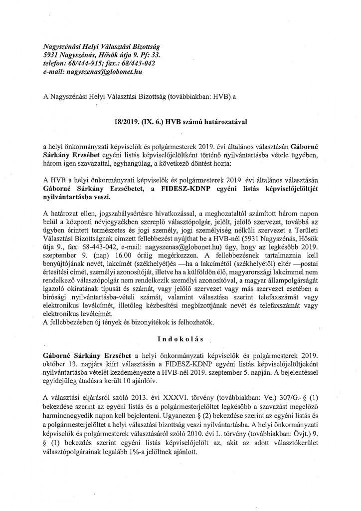 HVB határozatok 09.06.-7