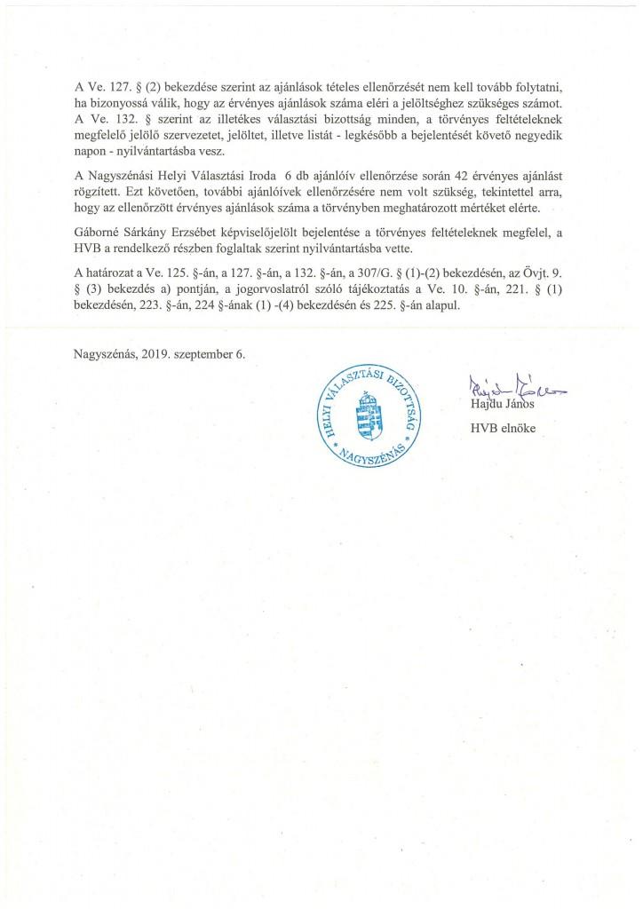 HVB határozatok 09.06.-8