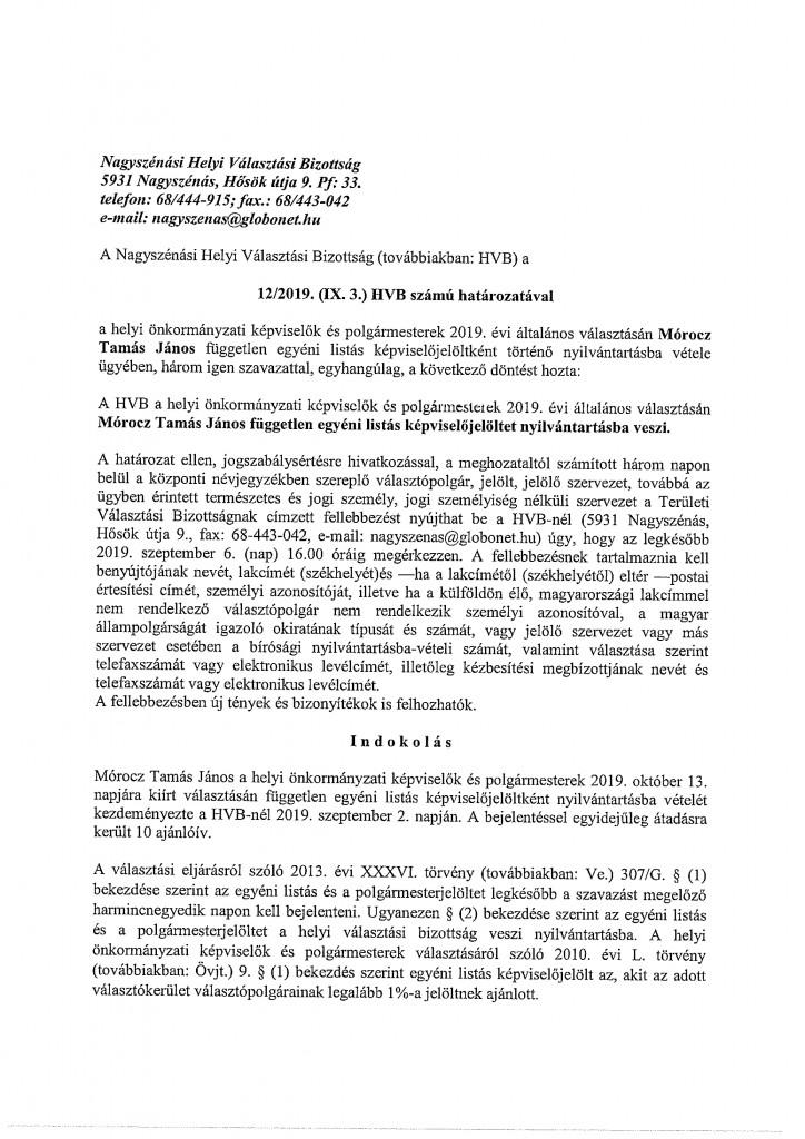 HVB határozatok-19