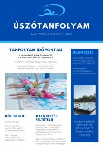 Úszótanfolyam plakát 2020