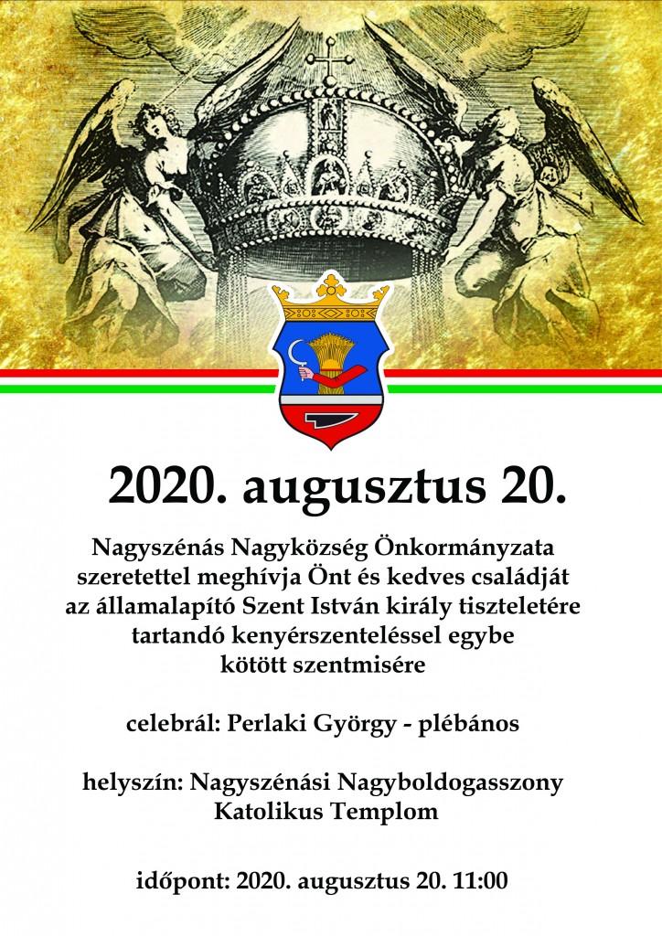 Augusztus 20. - plakát